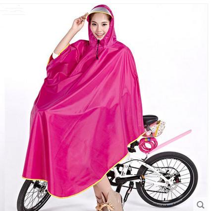 2015 plus size thickening windproof bicycle poncho transparent large brim hat adult electric single Bike raincoat capa de chuva(China (Mainland))