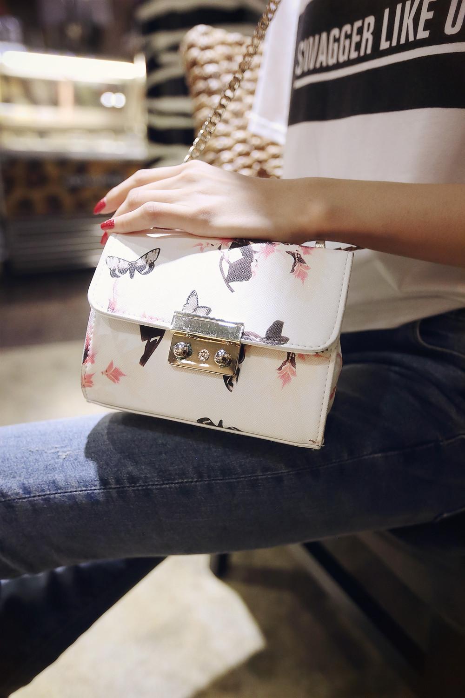 2015 the spring of printing small bag Fashion Shoulder Bag Handbag chain toothpick marks a generation(China (Mainland))