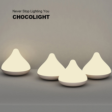 Stylepie Fashion Knock Response LED Night Light Atmosphere Lamp Chocolate Atmosphere Multifunctional Table Lamp Baby Mother Gift(China (Mainland))