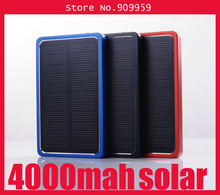 4000mAh Solar Charger Panel Charger External Battery Solar Power Bank for Phone MP3 MP4 PDA (with retail box)(China (Mainland))