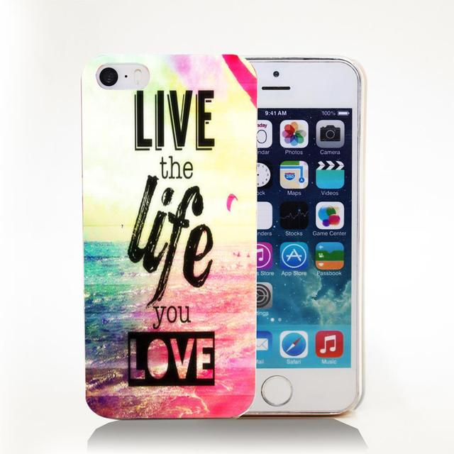 Etui iPhone 4/4S/5/5S/5C/6/6S/6Plus/6SPlus Live Life Love