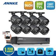 Hotting ANNKE 8CH 960 H 800TVL Cámara de Seguridad Inicio Sistema de Grabadora de Vídeo CCTV A Prueba de agua Kits de Vigilancia Con 8 Cámaras(China (Mainland))