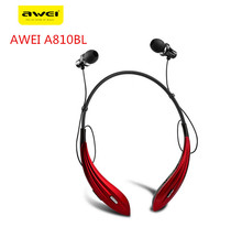 Awei A810BL Wireless Bluetooth earphone stereo music earphone sports running earphone Handsfree earphone with Microphone