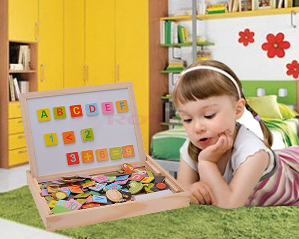 2015 Brand New Puzzles Baby Toy Animals Letters Puzzle Toys 3D Magnetic Wooden Drawing Board Children Wood Educational Toys(China (Mainland))
