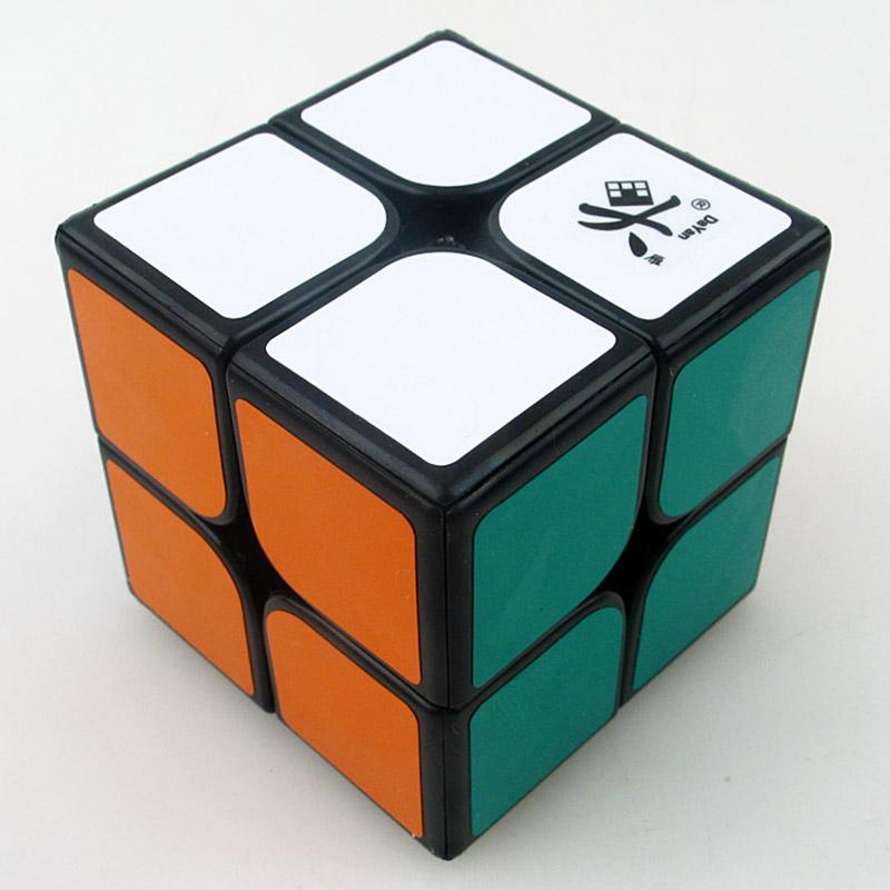 Dayan Zhanchi 46mm Mini 2x2x2 Magic Cube Puzzle Professional 2x2 Speed Twist Pocket Cube IQ Toy For Children kids(China (Mainland))