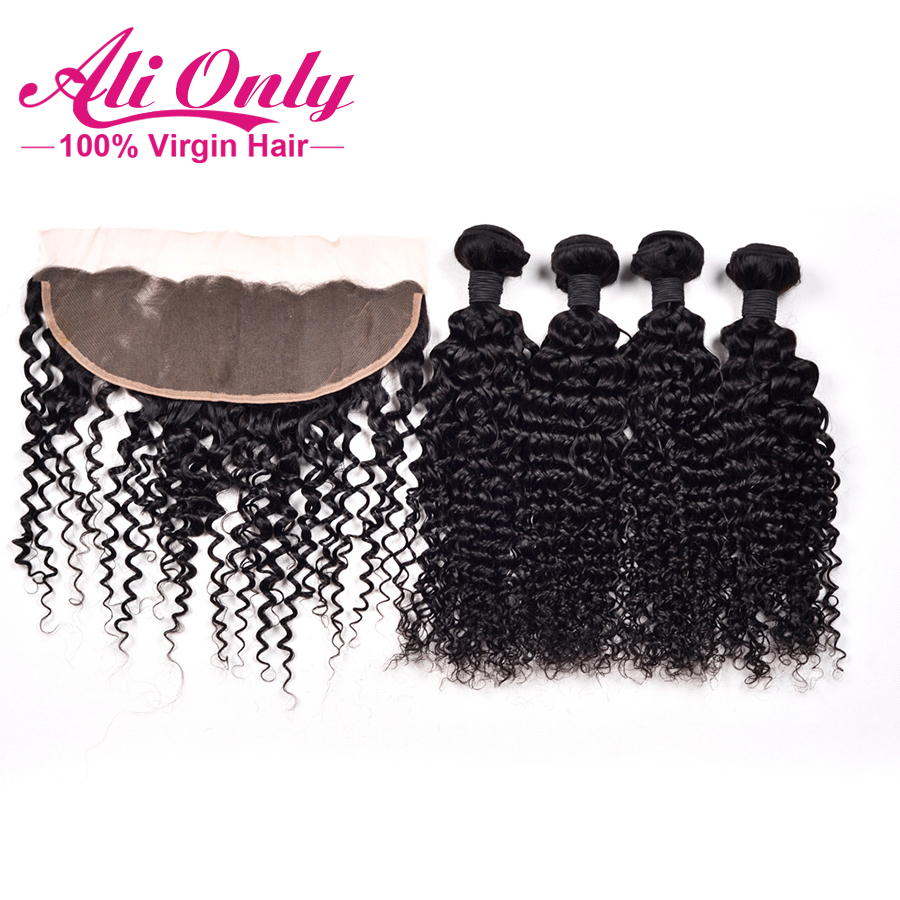 Brazilian Water Wave Lace Frontal Closure 6A Unprocessed Brazilian Virgin Hair With Closure Ear To Ear Lace Frontal With Bundles<br><br>Aliexpress