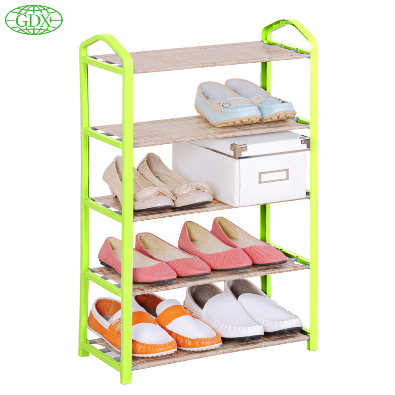 GDX New 5 Layers 10 Pairs Assembled Non-woven Fabric Shoes Cabinet Folding Dustproof Wetproof Shoe lockers Racks For Living Room(China (Mainland))