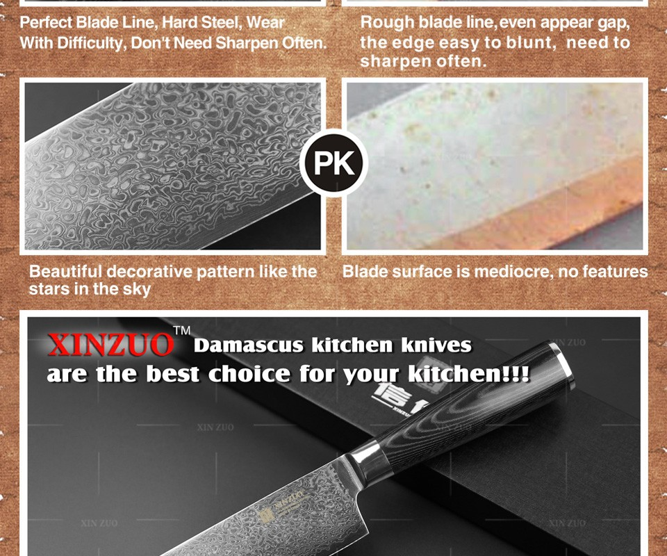 "Buy 7"" inches Japanese chef knife 73 layer Japanese VG10 Damascus kitchen chef knife hard sharp santoku micarta handle free shipping cheap"