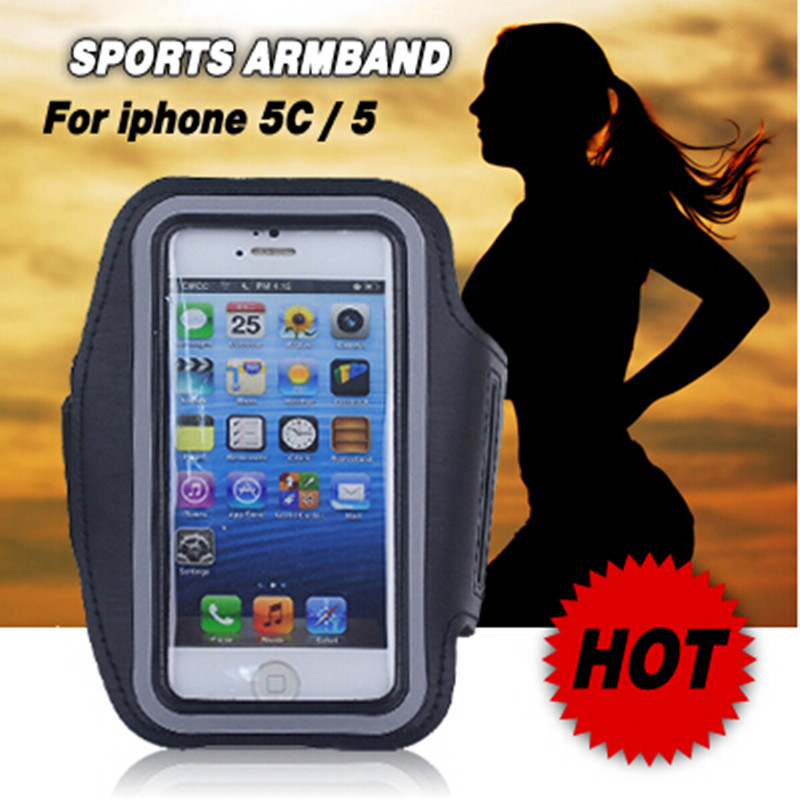 2 Piece Premium Running Jogging Sports Gym Neoprene Arm band Case Mobile Phone Cover for iPhone 5 5S 5C(China (Mainland))
