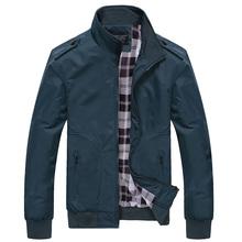 2018 de moda de los hombres de la primavera chaquetas sólido abrigos casuales de hombre cuello chaqueta Outerdoor abrigo M-XXXXL JK18030(China)