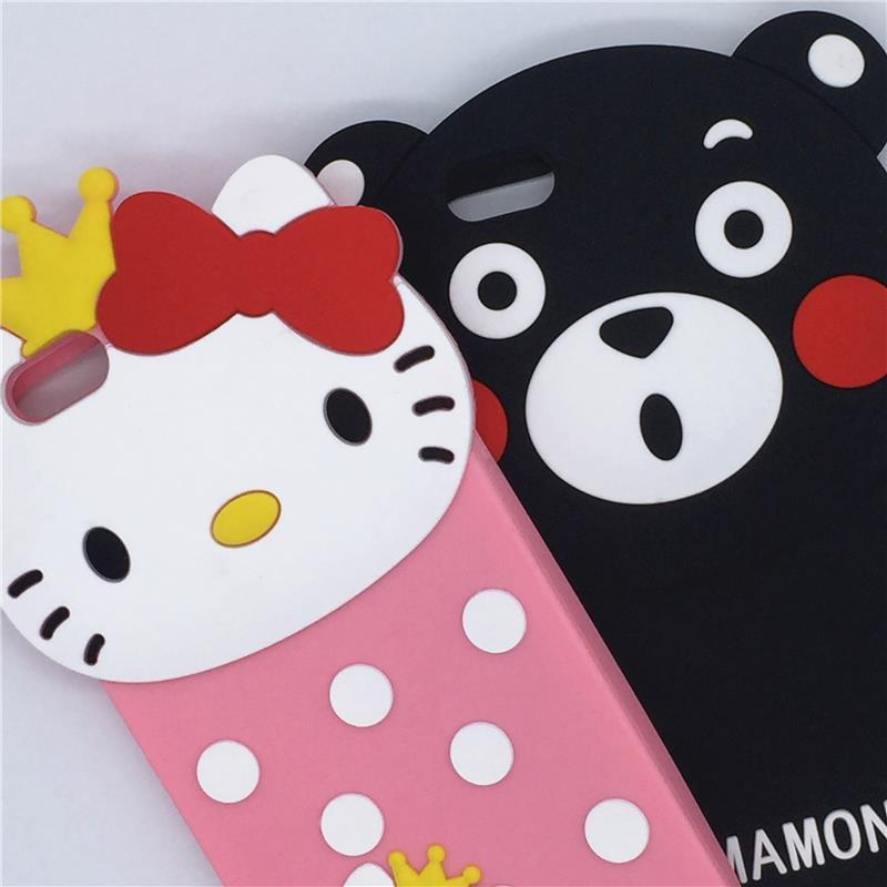 3D Cartoon Anime Case Doraemon Hello Kitty Kumamon Melody Soft Silicone Cover For iPhone SE 5 5S 5C 6 6S 4.7″ 6 6S Plus 5.5″