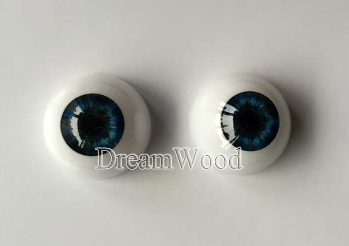 "Reborn Doll Eyes one Pair 22mm suit for 20"" 22"" reborn babies doll Accessories Blue color eyes for toys(China (Mainland))"