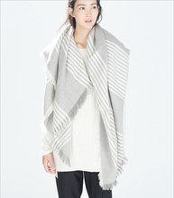 za Winter 2016 Tartan Scarf Desigual Plaid Scarf New Designer Unisex Acrylic Basic Shawls Women's Scarves hot sale za scarf(China (Mainland))