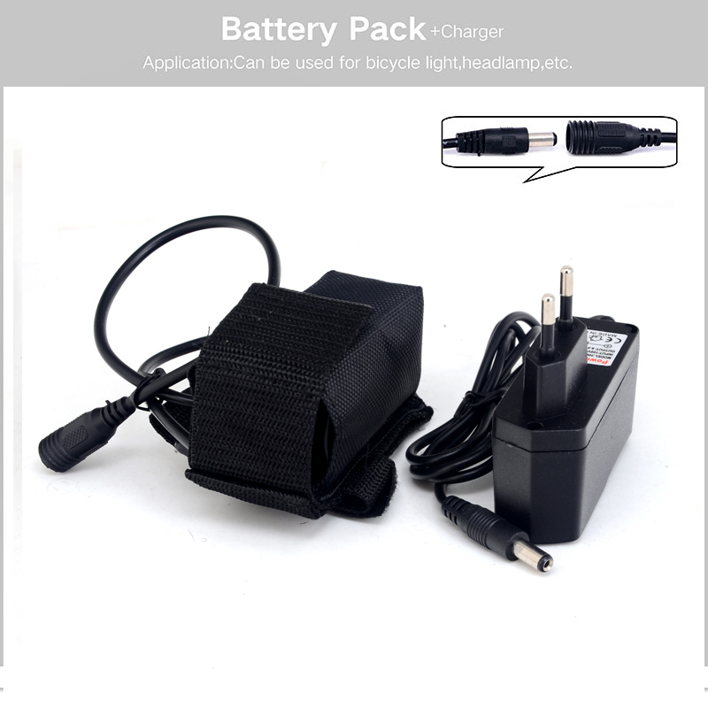 free shipping 4x18650 6400mah rechargeable 18650 li ion battery pack for bike bicycle light battery arco lighting
