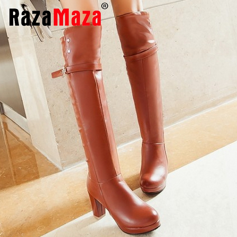 CooLcept Free shipping over knee thin heel  boots women snow fashion winter warm shoes boot P15918 EUR size 34-45<br><br>Aliexpress