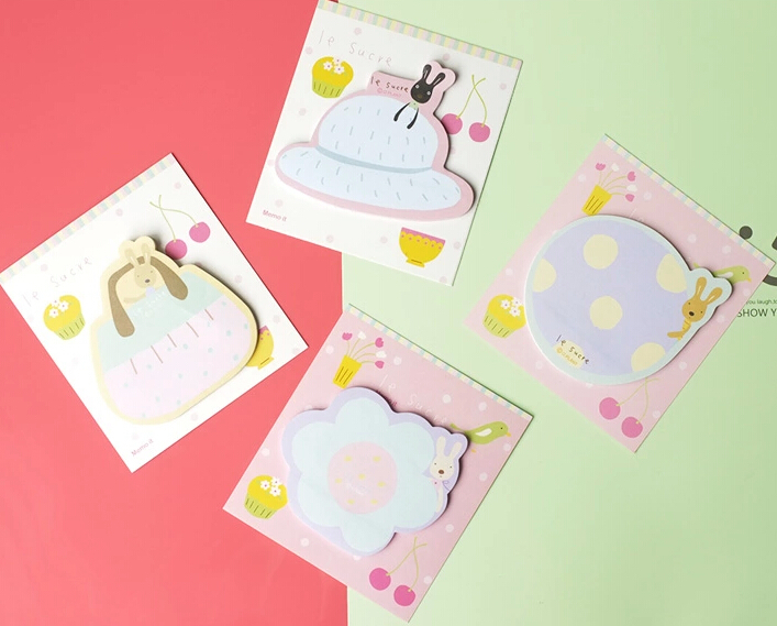 Lovely animal design sticky note,Schedule Memo pad ,Memo sticker,4 types .Lovely stationery wholesale(tt-1584)(China (Mainland))