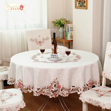 1 Piece European Rural Embroidered Round Table Cloth/ The Hotel Cloth Art Round Table Cloth/ Small Pure and Fresh Tablecloth(China (Mainland))