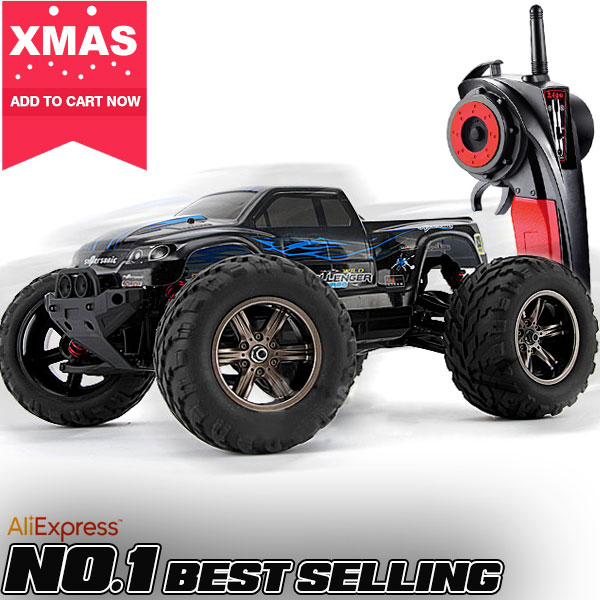 50kmh+ New 1/12 scale Electric rc monster truck Off road 2.4Ghz 2WD high speed remote controlled car all included RTR(China (Mainland))