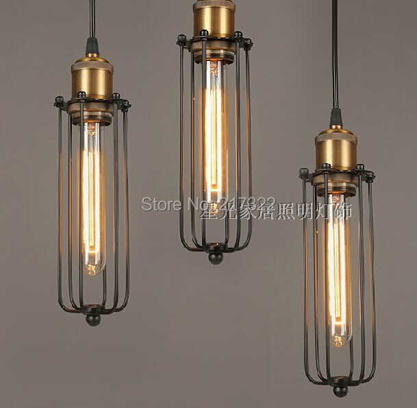 3PCS,Vintage Pendant Light Industrial Edison Lamp American
