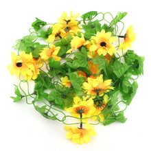 Lovely Sunflower Silk Flower Vine