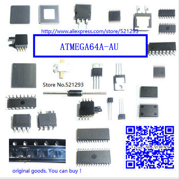 FREE SHIPPING 10piece ATMEGA64A-AU QFP ATMEL MEGA64A TQFP64 ATMEGA64A Programmable Flash(China (Mainland))