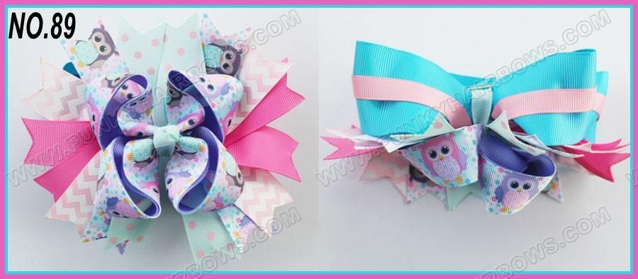 "free shipping 500pcs 6""big layered boutique bow animal print bows Girl boutique hair bows(China (Mainland))"