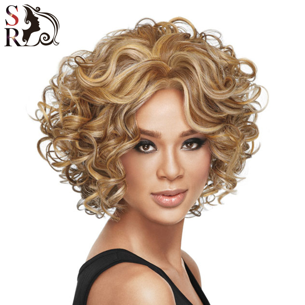 1pc Short Synthetic Wigs For African American Black Women