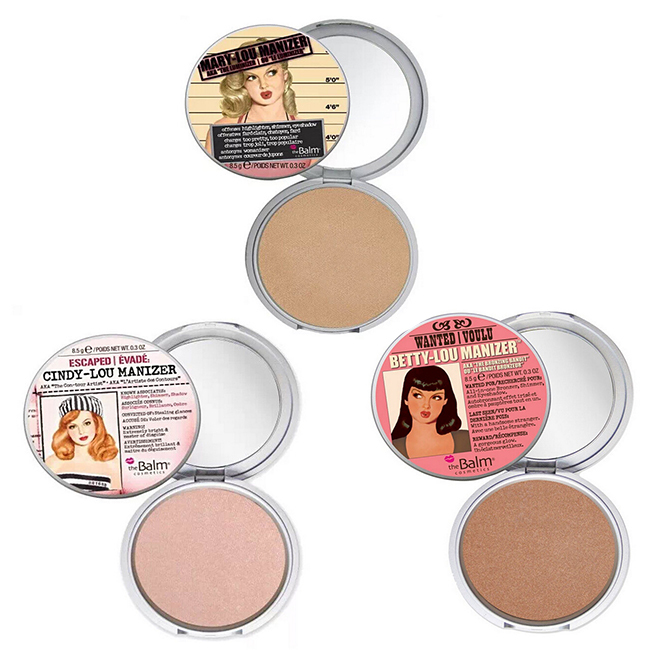 The Balm Cosmetic Brand Makeup Mary-Lou / Betty-Lou / Cindy-Lou Manizer Highlight Face Pressed Powder Foundation Palette(China (Mainland))