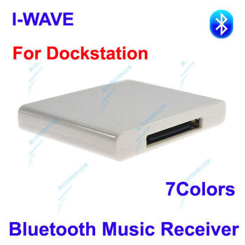 Factory Supply: 30pin A2DP Bluetooth Music Receiver Stereo Audio Adapter for Dock Stations, iPhone / iPad speaker--Free Shipping