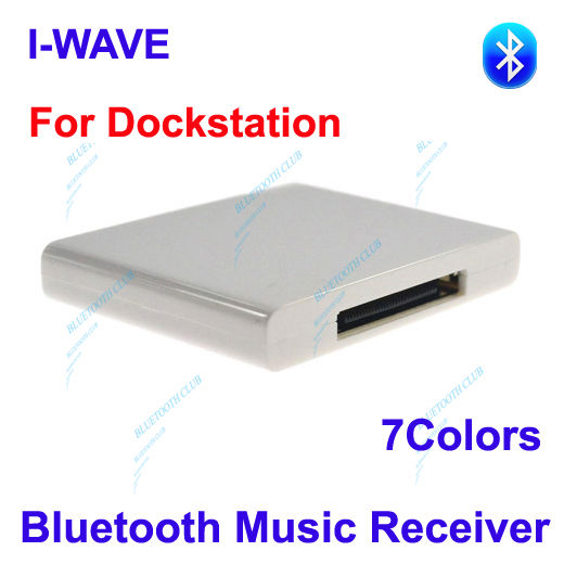 Factory Supply: 30pin A2DP Bluetooth Music Receiver Stereo Audio Adapter for Dock Stations, iPhone / iPad speaker--Free Shipping(China (Mainland))