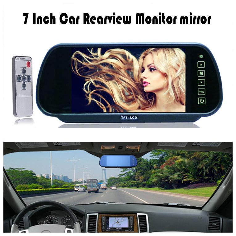 "7 inch 7"" LCD Screen Car Rear View Backup Mirror Monitor + IR Reverse Wireless Rearview Camera Kit Display Cars(China (Mainland))"