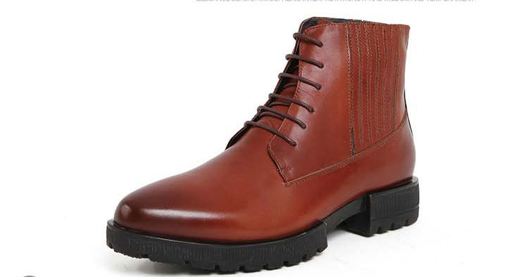 2015 The New Men's Pointed Toe Genuine Leather Cowboy Business Casual Brogue Wedding Office Ankle Lace-Up Male Footwear Hombre(China (Mainland))