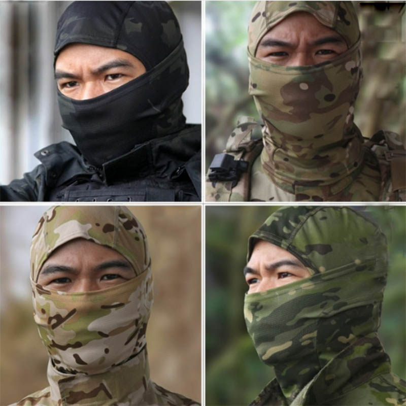 New 2016 Tight Multicam Camo Balaclava Tactical Airsoft Hunting Outdoor Paintball Motorcycle Ski Cycling Protect Full Face Mask(China (Mainland))