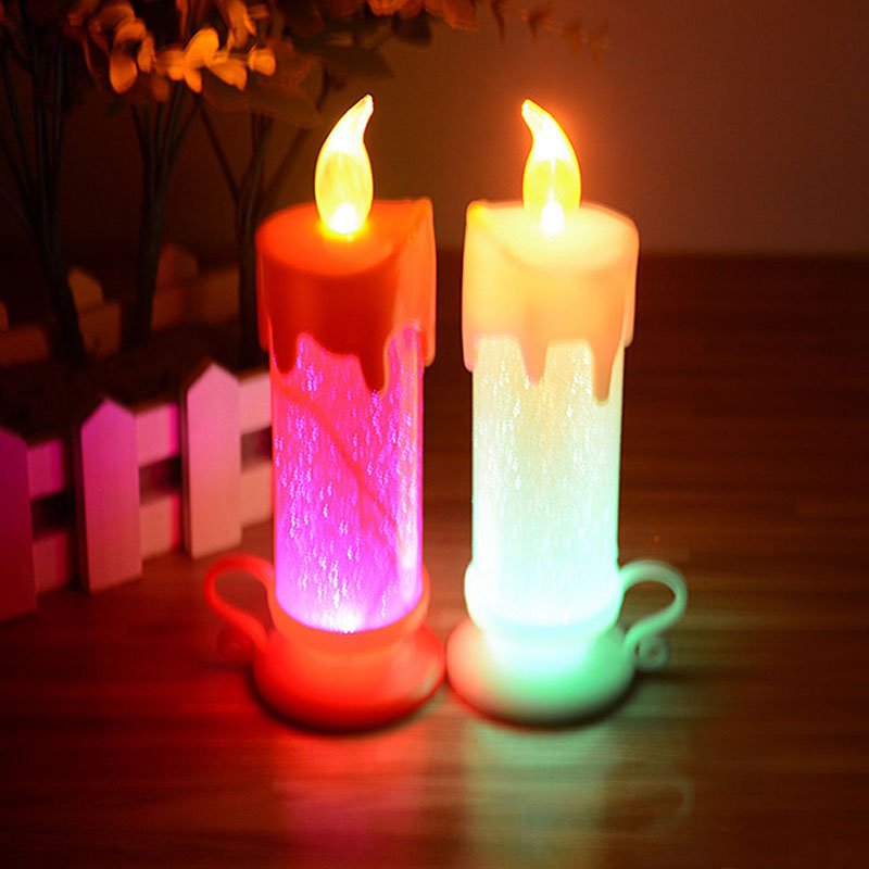 Home Decorative Swrling LED Colour Changing Flameless Flickering Candle Light XMAS Gift New#81528(China (Mainland))