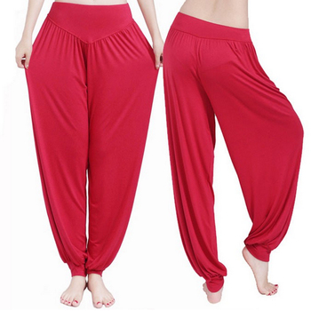 Yoga Pants Women Plus Size Colorful Bloomers Dance Yoga TaiChi Full Length Pants Smooth No Shrink Antistatic Pants Fast Shipping