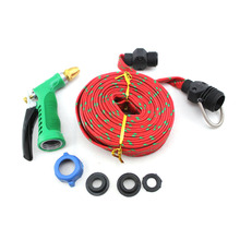 Mini 2 Colors 10 Meter Flat Woven Hose Pipe Water Car Wash Tools Washing Set Accessories(China (Mainland))