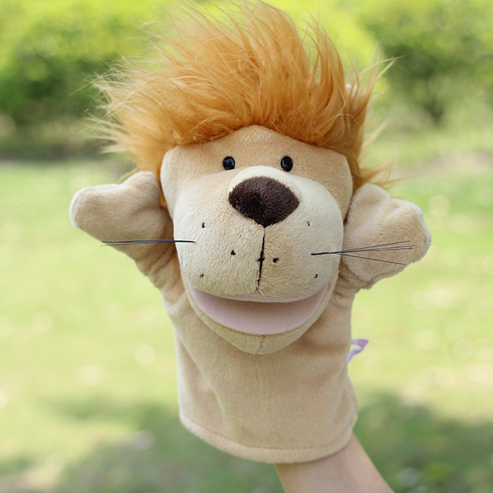 Puppets toy Large plush children's toy Puzzle hand puppet Lions doll can be open mouth(China (Mainland))