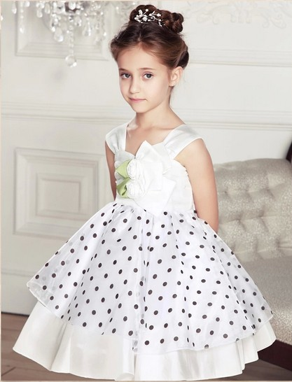2014 summer Baby clothes Kids girls tutu princess dress children show white lace party bow dresses wedding - Just Me store