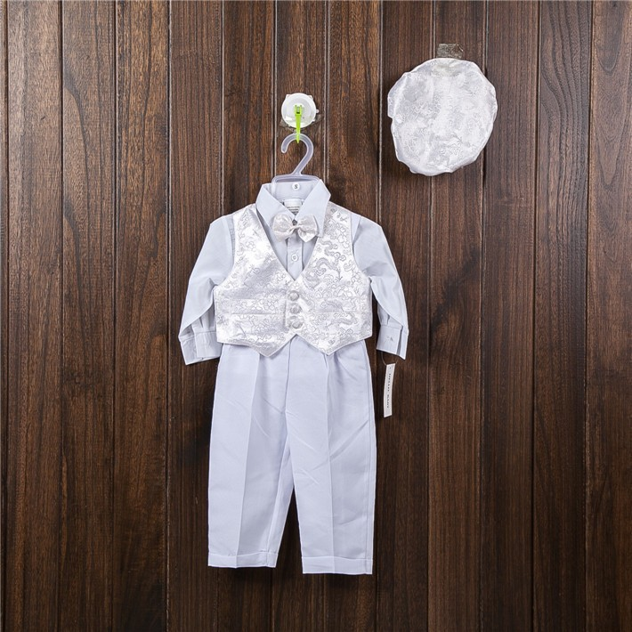 HELLO BABY white gentleman costumes Christening clothing