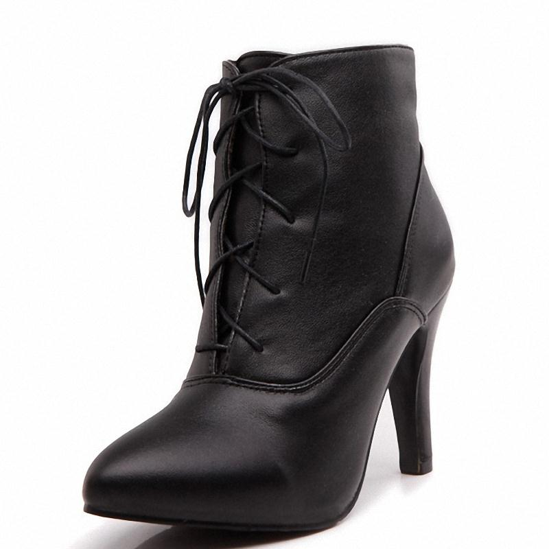 ENAYER 2014 NEW arrivals sexy thin high heels boots for women fashion martin boots hot sale ankle boots Retro pointed toe boots<br><br>Aliexpress