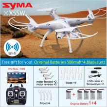 NEW SYMA X5SW WIFI RC Drone Quadcopter with FPV Camera Headless 6-Axis Real Time RC Helicopter Quad copter Toys gift