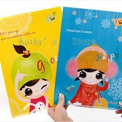 Fashion cute, fruit girl series, single file folder, office documents holder(10pieces/lot) air mail , EMS 45%discount