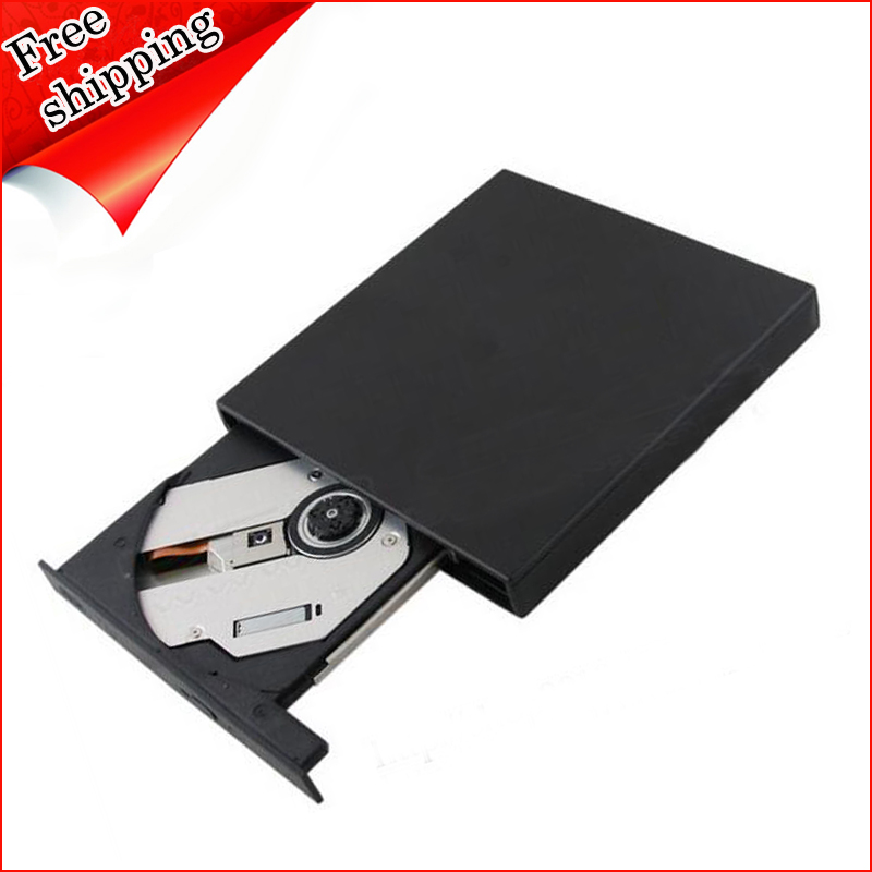 Laptop Computer PC USB 2.0 External DVD Writer Lightscribe Dual Layer 8X DVD RW RAM 24X CD Burner Slim Optical Drive Black()
