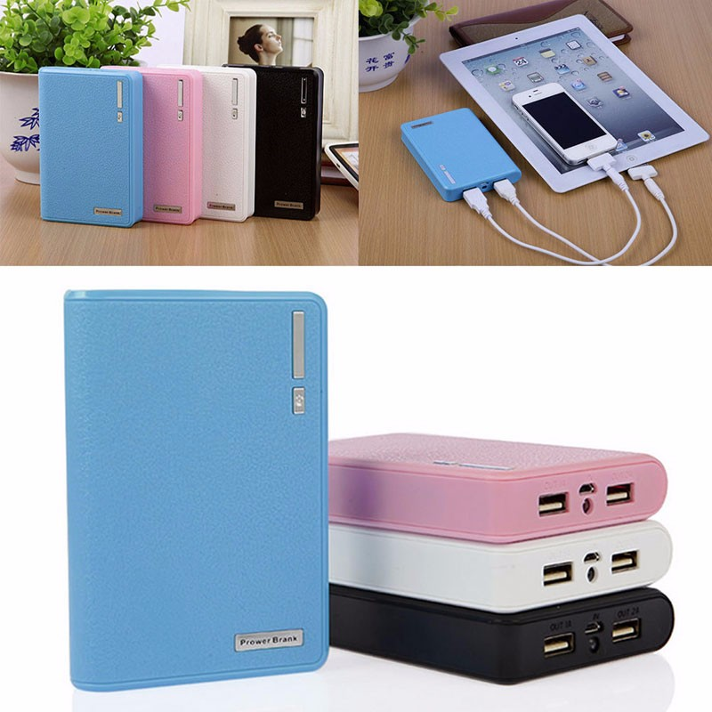 image for Dual USB Power Bank 4x 18650 External Backup Battery Charger Box Case