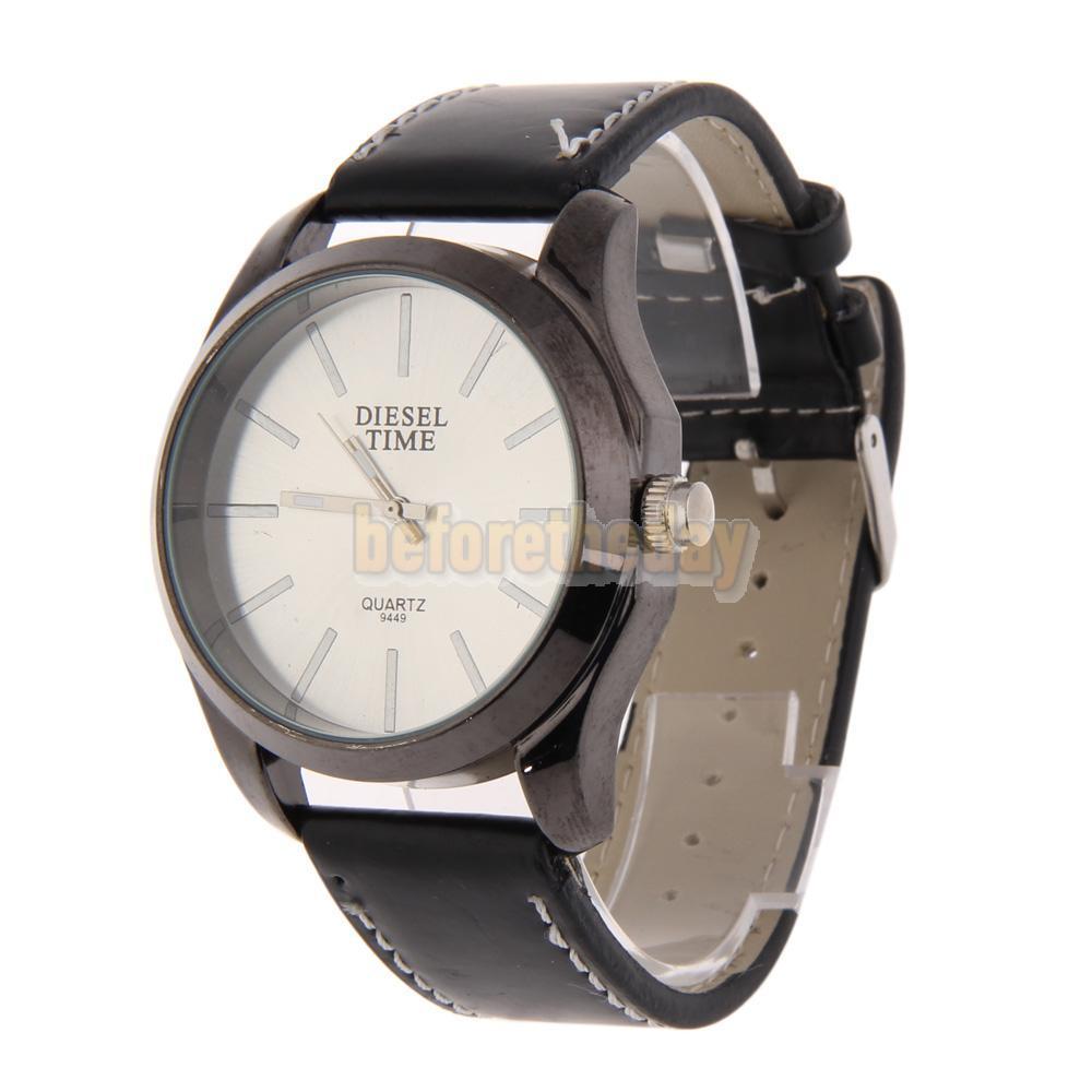 BETR Fashion Man Wrist Watch Single Quartz Movement Leather Watchband Alloy