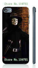 Mobile Phone Cases 2016 Vendetta Anonymous Design Plastic White Hard Case For ipod touch 5 5th Free Shipping