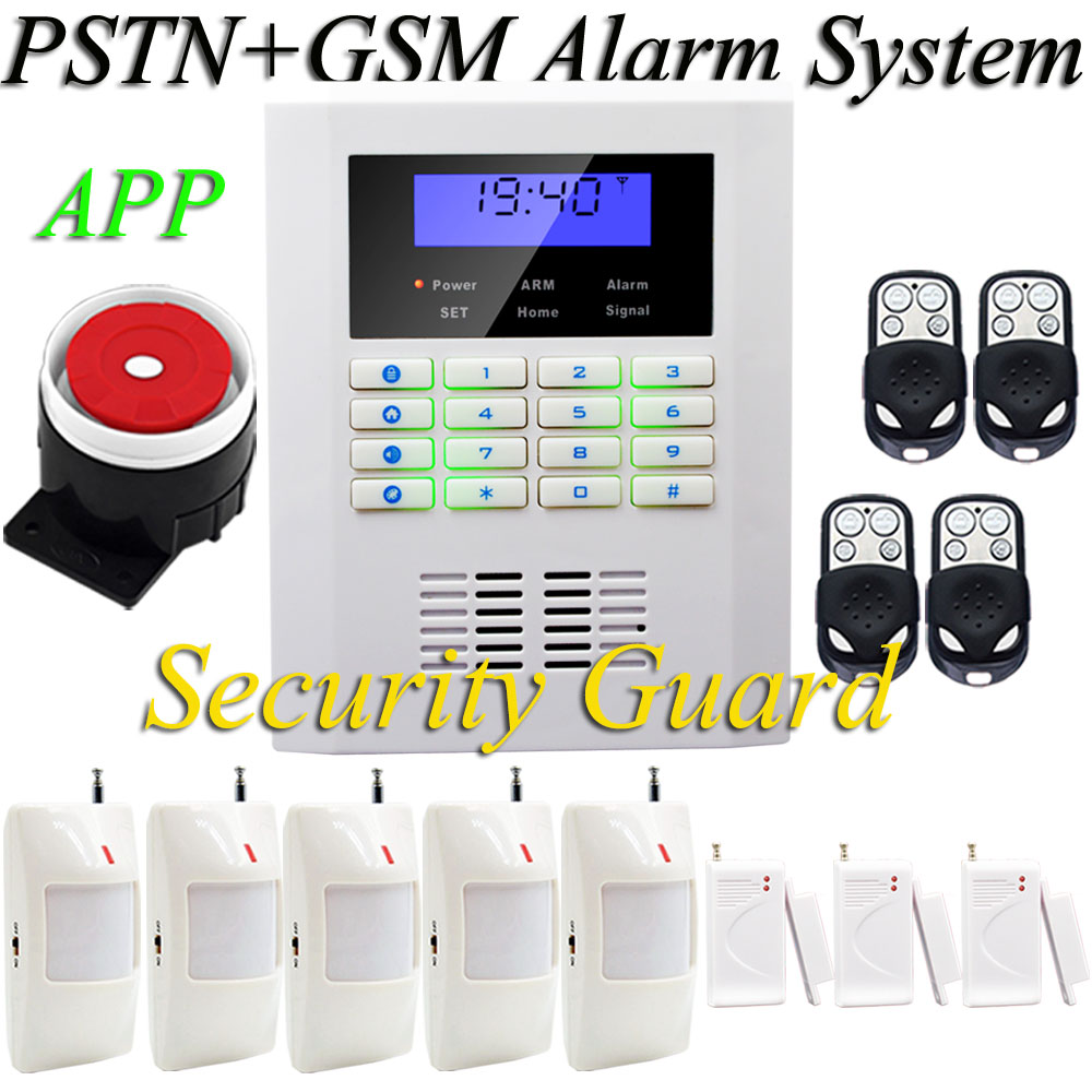 2016 Hot Selling Free Shipping PSTN GSM Alarm System Keyboard And LCD Screen Make It Used More Simple 433MHz Popular in Market(China (Mainland))