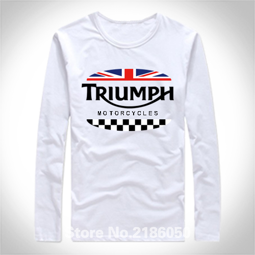 TRIUMPH MOTORCYCLE Classic Tour Flag Logo Men's Black T-Shirt Casual Designs Tee Shirts S M L XL 2XL 3XL(China (Mainland))