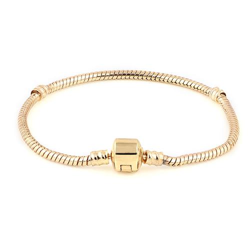letter bracelets 18k gold snake chain fit for bracelet