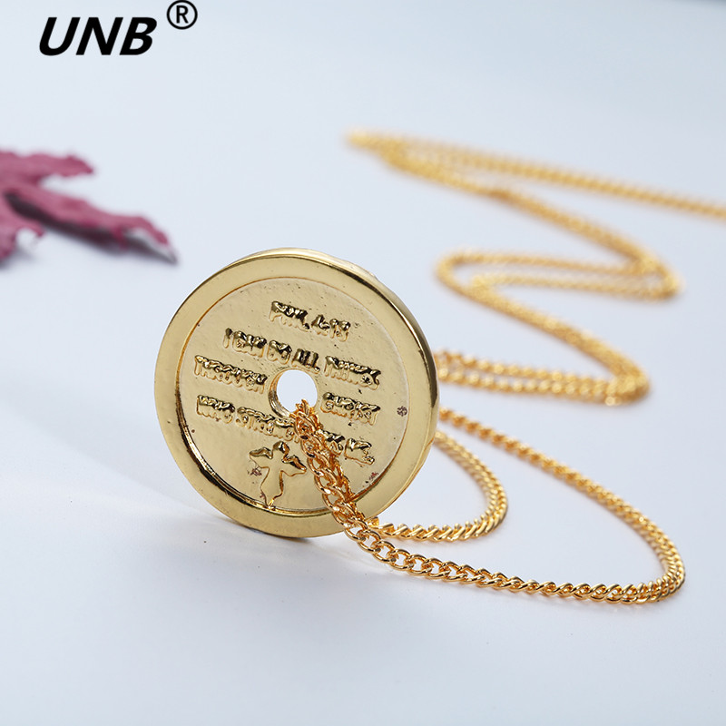 Collares Necklaces & Pendants Maxi Necklace Europe And The Coins Titanium Barbell Paragraph Tide Brand Lovers Of Short Necklace(China (Mainland))